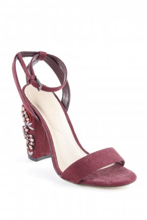 Aldo Strapped High-Heeled Sandals blackberry-red party style