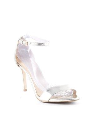 Aldo Strapped High-Heeled Sandals gold-colored elegant
