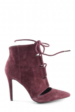 Aldo Lace-up Booties red extravagant style