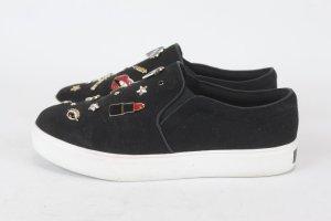 Aldo Schuhe Halbschuhe Sneaker Slip On Gr. 38 schwarz (E/MF/SC)
