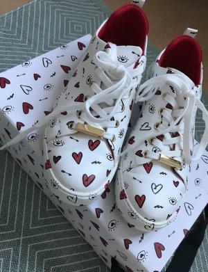 Aldo Sneaker Sneakers Herzen Augen Statement Allover Print