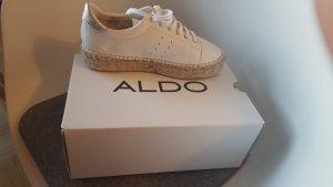 Aldo Sneaker weiß Bastsohle Plateau Gr39