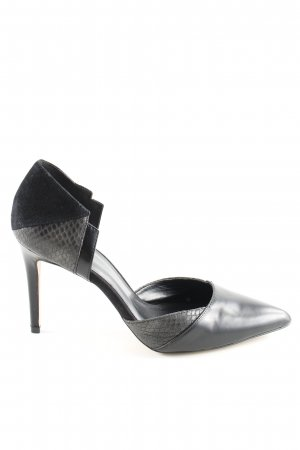 Aldo Spitz-Pumps schwarz Animalmuster Business-Look