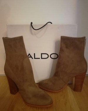 Aldo Booties taupe-brown