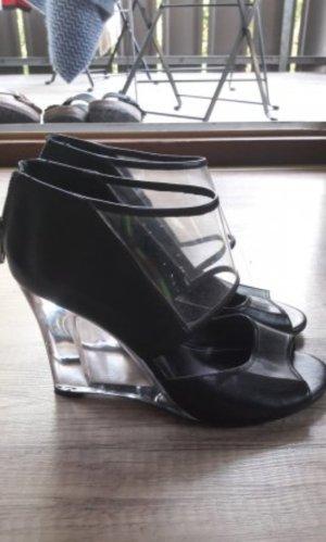Aldo Wedges Highheels Pumps Keilabsatz Transparent Sandalen