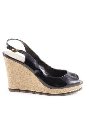 Aldo Wedges Sandaletten schwarz-beige Elegant