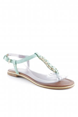 Aldo Toe-Post sandals turquoise-brown beach look