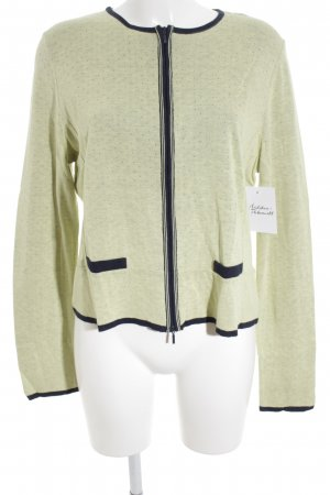 Aldomartins Shirt Jacket dark blue-pale green loosely knitted pattern