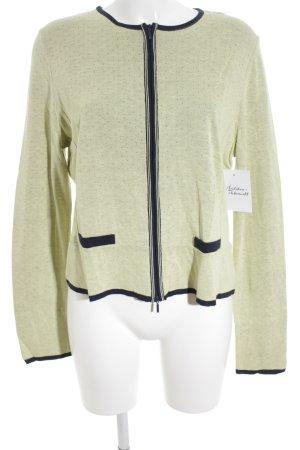 Aldomartins Shirtjacke dunkelblau-blassgrün Lochstrickmuster Casual-Look