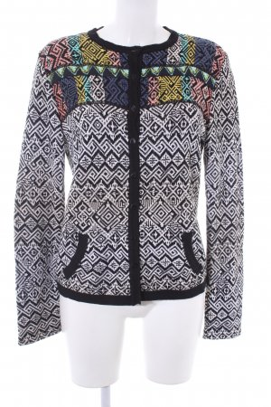 Aldomartins Strick Cardigan Aztekenmuster Casual-Look