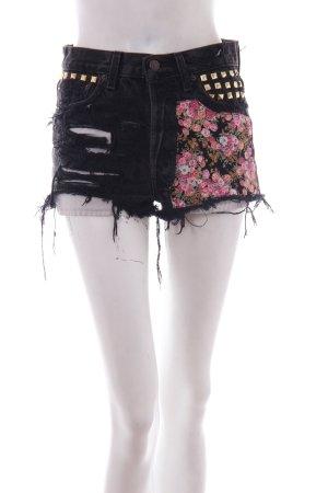 Alessandra Kamaile Clothing Jeans-Short schwarz