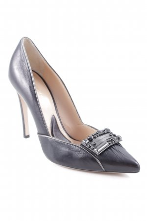 Alessandro Dell' Acqua Tacones altos negro-crema look casual