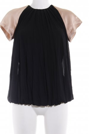 Alessandro Dell' Acqua Short Sleeved Blouse black-nude casual look