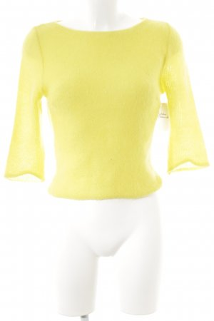 Alessandro Dell' Acqua Short Sleeve Sweater yellow street-fashion look