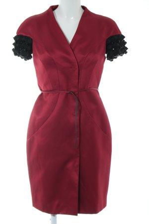 Alessandro Dell' Acqua Robe courte rouge-noir élégant