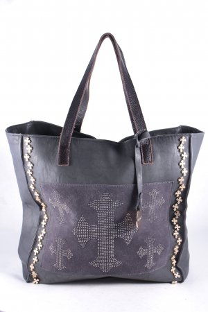 Alex. Max Tote anthracite zipper pocket outside