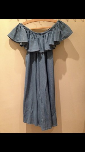 Alexa Chung x AG Jeans Mini Denim Dress Off-Shoulder Style-Icon *Sold-Out*