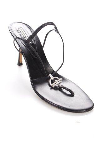 Alexa Wagner Riemchen-Sandaletten schwarz klassischer Stil