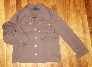 Alexander Denim Blazer brown-bronze-colored cotton