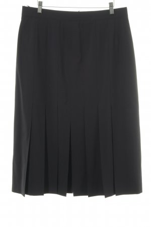 Alexander Plaid Skirt dark blue business style