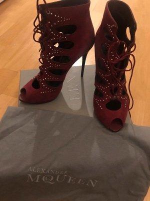 Alexander McQueen High Heels bordeaux