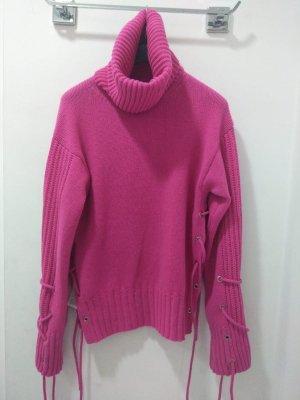Alexander McQueen Pull tricoté magenta
