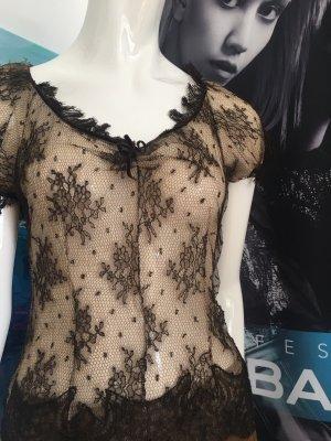 Alexander McQueen Blouse transparente marron clair