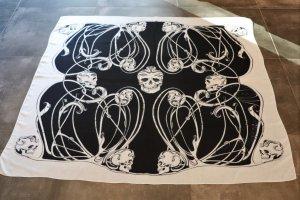 Alexander McQueen Stola nero-bianco