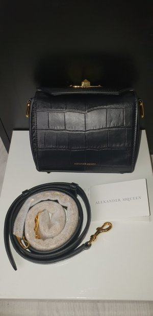 Alexander McQueen Bandolera negro-color oro