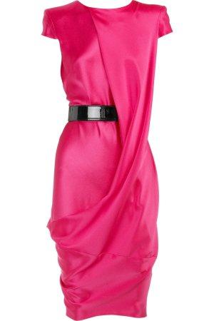 Alexander McQueen Cocktail Kleid Pink mit Gürtel 36