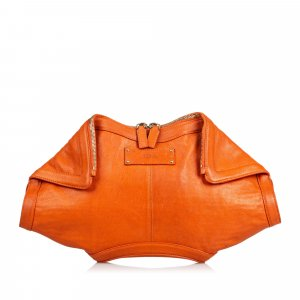 Alexander Mcqueen De Manta Union Leather Clutch Bag