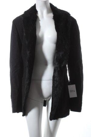 Alexander McQueen Felljacke schwarz Eleganz-Look