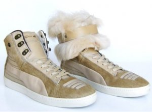 Alexander McQueen / Puma High Top Sneaker multicolored leather