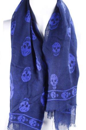 Alexander McQueen Halstuch dunkelblau-neonblau Allover-Druck Casual-Look