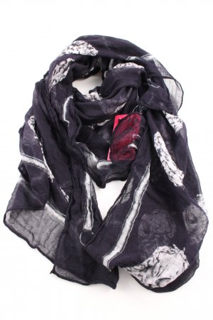 Alexander McQueen Neckerchief blue-white abstract pattern casual look