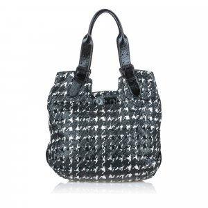 Alexander Mcqueen Houndstooth Leather Tote Bag