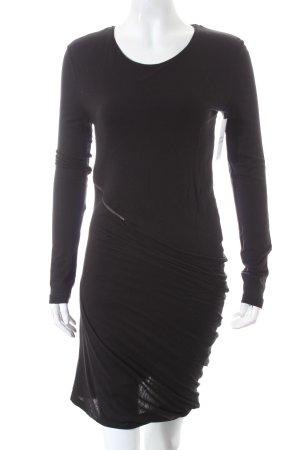 Alexander McQueen Jerseykleid schwarz extravaganter Stil