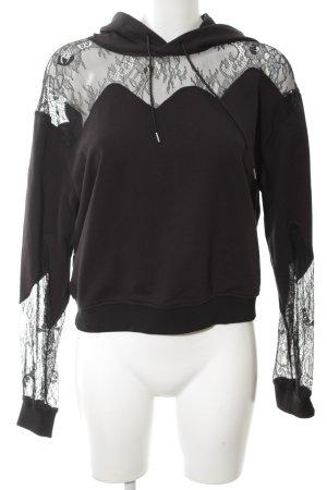 Alexander McQueen Kapuzensweatshirt schwarz Casual-Look