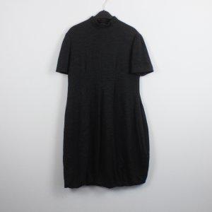 Alexander McQueen vestido de globo gris antracita lana de esquila