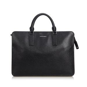 Alexander McQueen Business Bag black leather