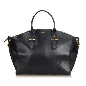Alexander McQueen Bolso negro Cuero