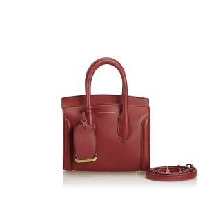 Alexander McQueen Satchel red leather