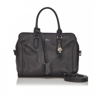 Alexander Mcqueen Leather Skull Padlock Satchel