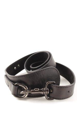 Alexander McQueen Cintura di pelle nero stile casual