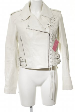 Alexander McQueen Leather Jacket white urban style