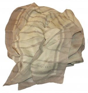 Alexander McQueen Silk Cloth pale green-lime-green silk