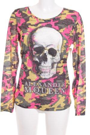 Alexander McQueen Longsleeve Mustermix extravaganter Stil