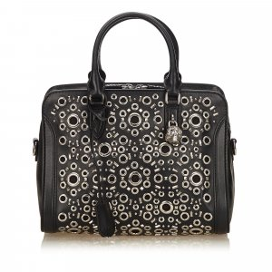Alexander McQueen Satchel black leather