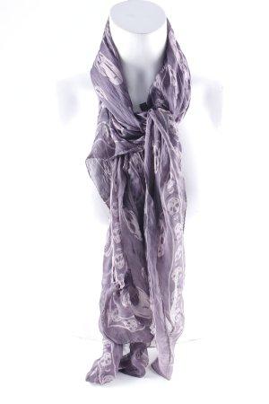 Alexander McQueen Pashmina grey violet mixed pattern casual look
