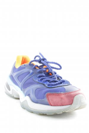 Alexander McQueen / Puma Lace-Up Sneaker orange-blue athletic style